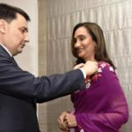 Shobhana Bhartia Receiving France's Highest Civilian Award