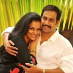 Shweta Menon with her husband Sreevalsan Menon
