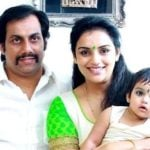 Shweta Menon with her husband Sreevalsan Menon and daughter Sabaina Menon