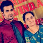 Srinish Aravind with his mother Lakshmi Kumari