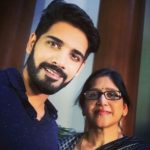 Sushanth with his mother
