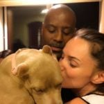 Tori Black with her husband and pet