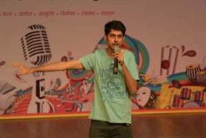 Varun Grover while performing