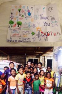 Varun Mitra With Sri Lankan Kids On His Birthday