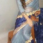 Yashu Dhiman wearing saree