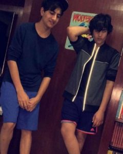 Aarav With Ibrahim Khan