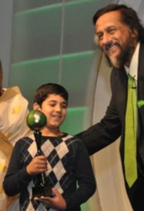 Aarav won the Green Globe for Outstanding Contribution by a Child