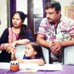 Aayesha Vindhara with her parents