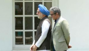 Akshaye Khanna playing Sanjaya Baru in the film, The Accidental Prime Minister