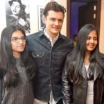 Amar Singh's daughters with Orlando Bloom