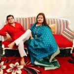 Amit Kumar with his Wife