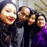 Ankita Konwar with her parents and sister Jharna Konwar Baruah