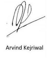 Arvind Kejriwal Signature