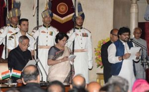 Babul Supriyo while taking Oath