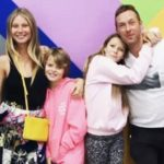 Chris Martin with his ex-wife and his children