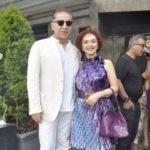 Dalip Tahil with his wife Amrita