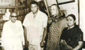 Dayalu Ammal And M. Karunanidhi with Muhammad Ali And His Wife Veronica in 1980