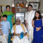 Dayanidhi Maran with his wife, children and Karunanidhi