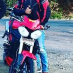 Devdatta Nage poses with his Triumph Speed Triple 1050