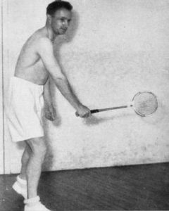 Don Bradman playing tennis