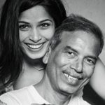 Freida Pinto with her Father
