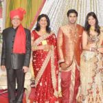 Govind Namdev With His Wife Sudha Namdev, Daughter Pallavi and Son-In-Law Vibin Das