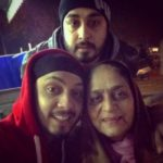Gurinder Seagal With His Mother And Brother