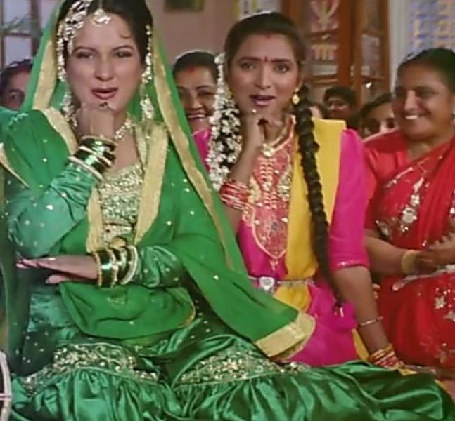 Himani Shivpuri as Razia in the movie Hum Apke Hai Koun (1994)