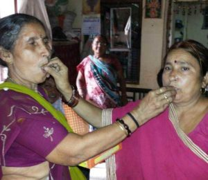 Jashodaben after Modi's win in the elections