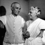Jawaharlal Nehru With His Sister