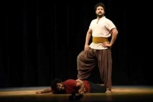 Jitendra Joshi Performing a Play in a Theatre