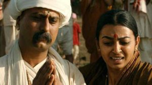 Jitendra Joshi With Radhika Apte in the film, Tukaram
