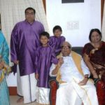 Kanimozhi With Her Husband Parents And Children