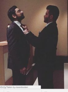 Karan sharing light moments With Anil Kapoor