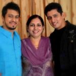 Khushwant Walia with his mother and brother