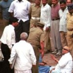 M Karunanidhi Outside the Central Jail In Chennai