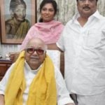 M. K. Alagiri with his father