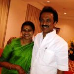 M. K. Stalin With His Wife Durga Stalin