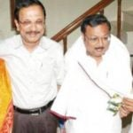 M.K Alagiri with his brother M. K. Tamilarasu