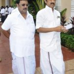 M.K Alagiri with his brother M.K. Stalin