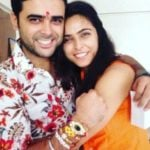 Madhurima Tuli with her brother