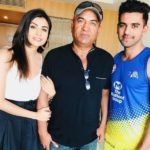 Malti With Her Father Lokendra Singh Chahar and Brother Deepak Chahar
