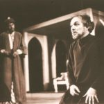 Manohar Singh as Tughlaq the despotic king in the play Tughlaq