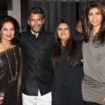Milind Soman with his sisters