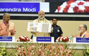Modi releases special commemorative postage stamp on 100 years of Yogoda Satsanga Society of India