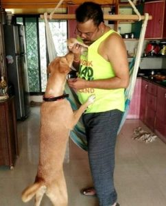 Nagesh Bhosle loves animals