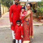 Naitik Nagda with his wife Ishita Nagda and children