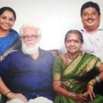 Nambi Narayanan With His Wife and Children