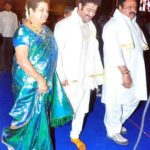Nandamuri Harikrishna with his second wife Shalini Bhaskar Rao and son Jr. NTR