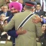 Navjot Singh Sidhu hugging General Qamar Javed Bajwa
